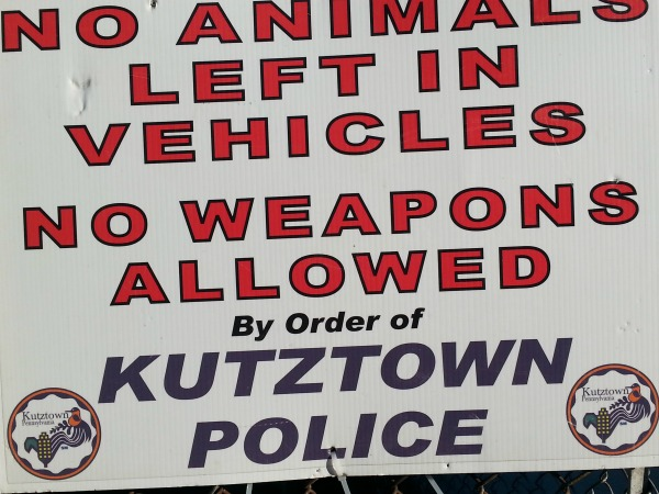 Best Sign ever at the Kutztown Folk Festival