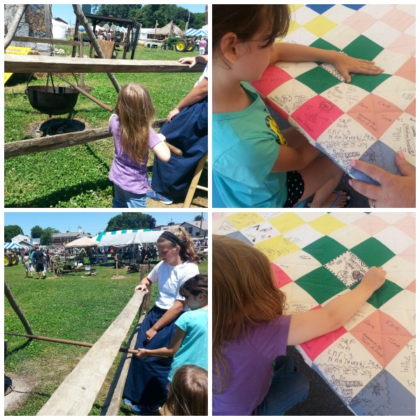 Hands on activitires for kids at the Kutztown Folk Festival