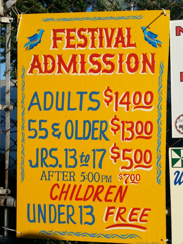 Prices for the Kutztown Folk Festival