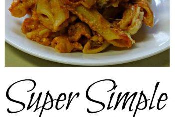 Super Simple Baked Ziti