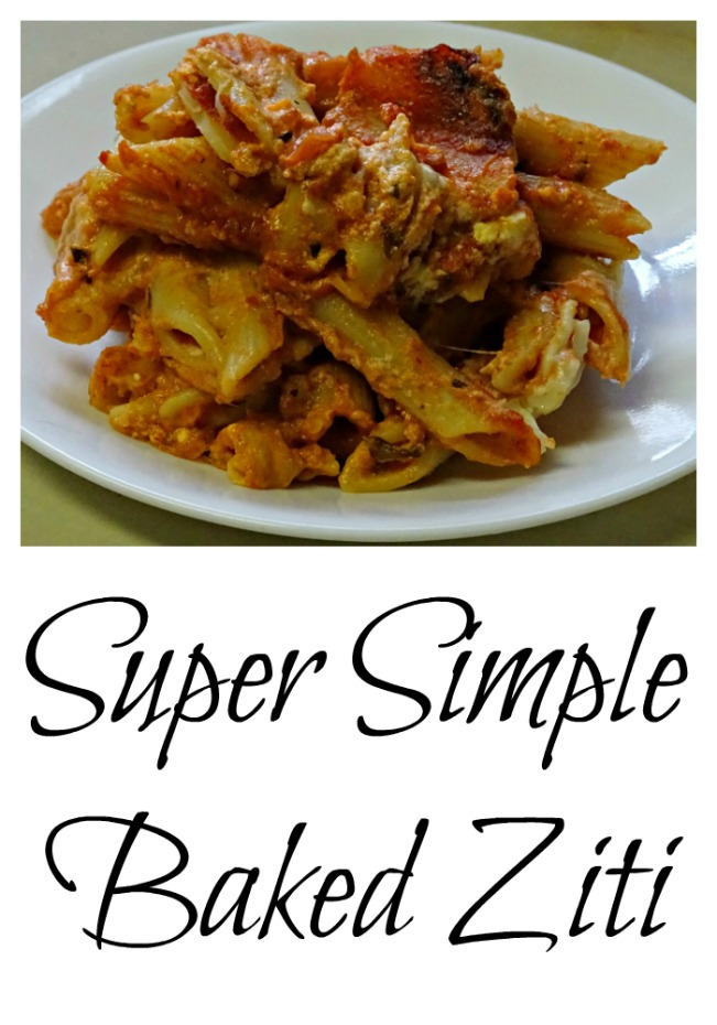 What's for dinner tonight? Super simple baked ziti makes weeknight dinner easy.