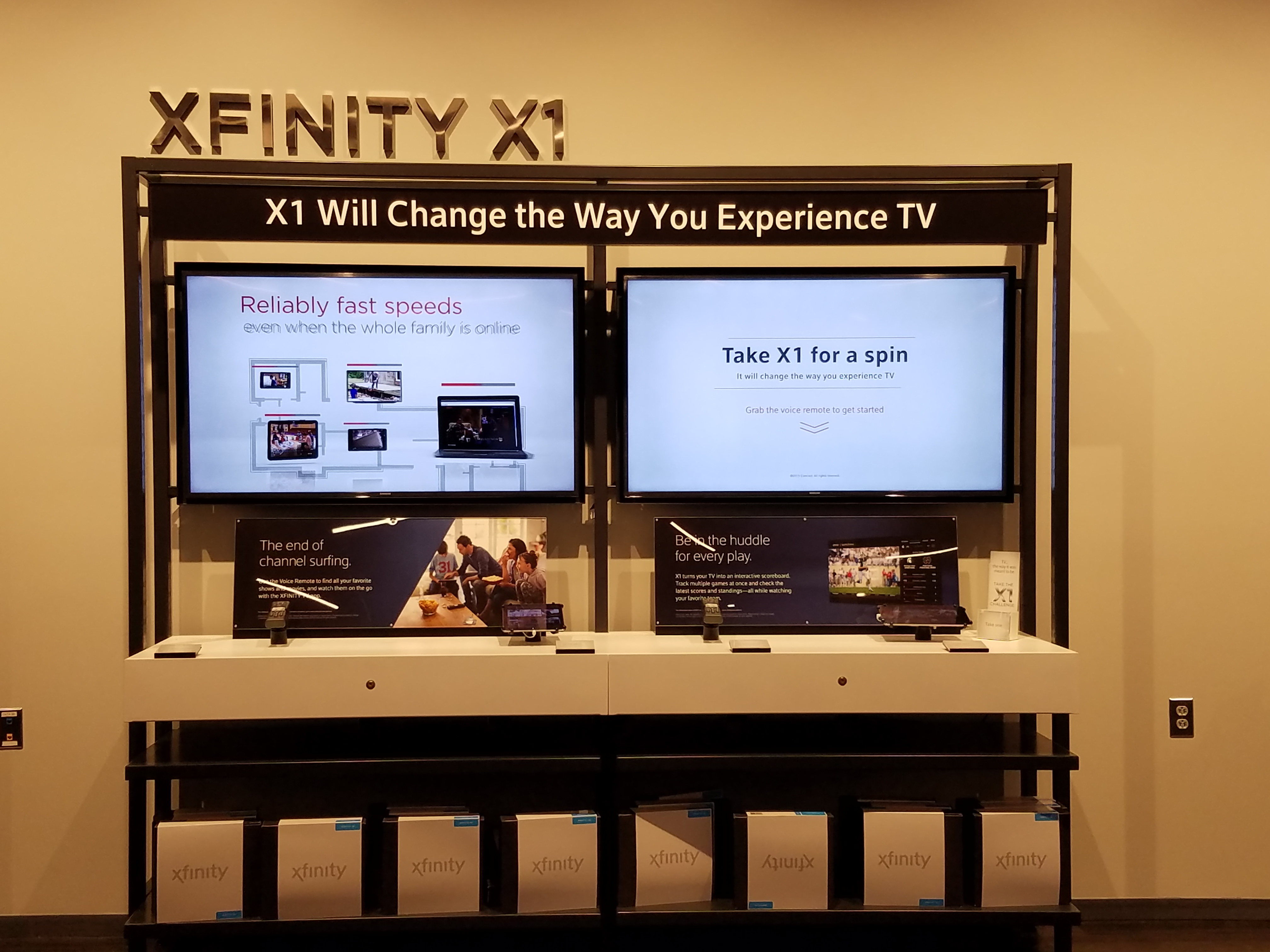 Xfinity offers the new X1