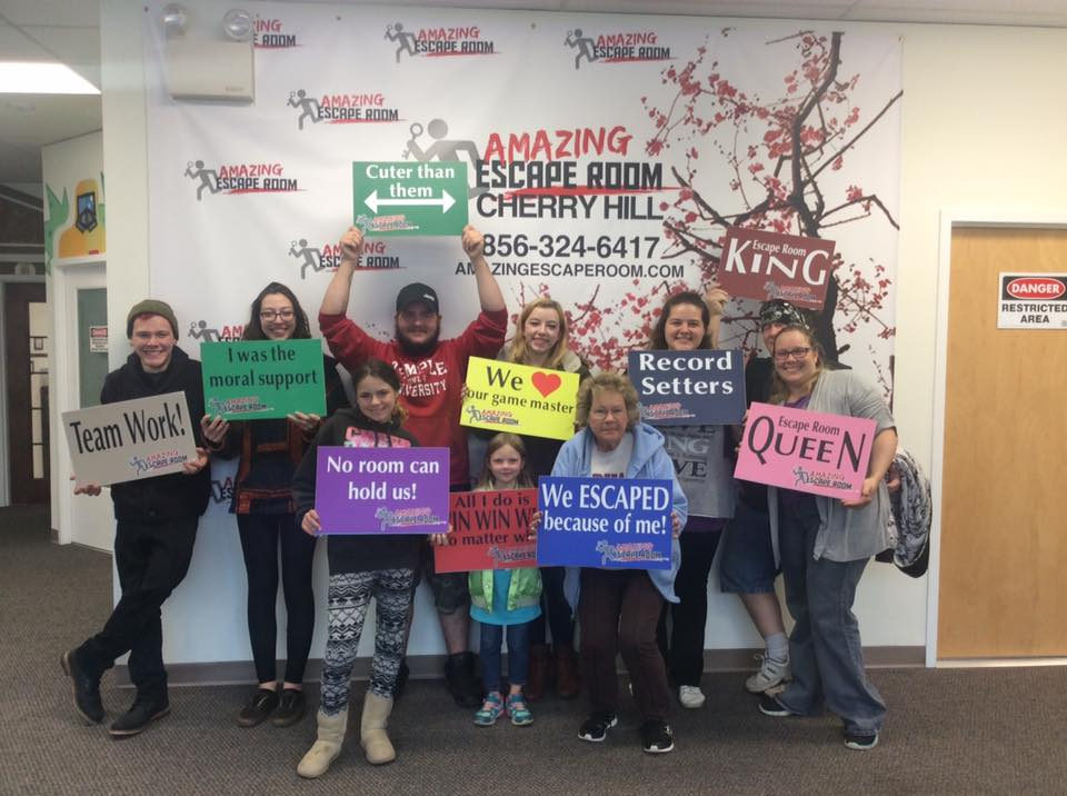 We completed the room and we escaped. The Amazing Escape Room in CHerry Hill, NJ