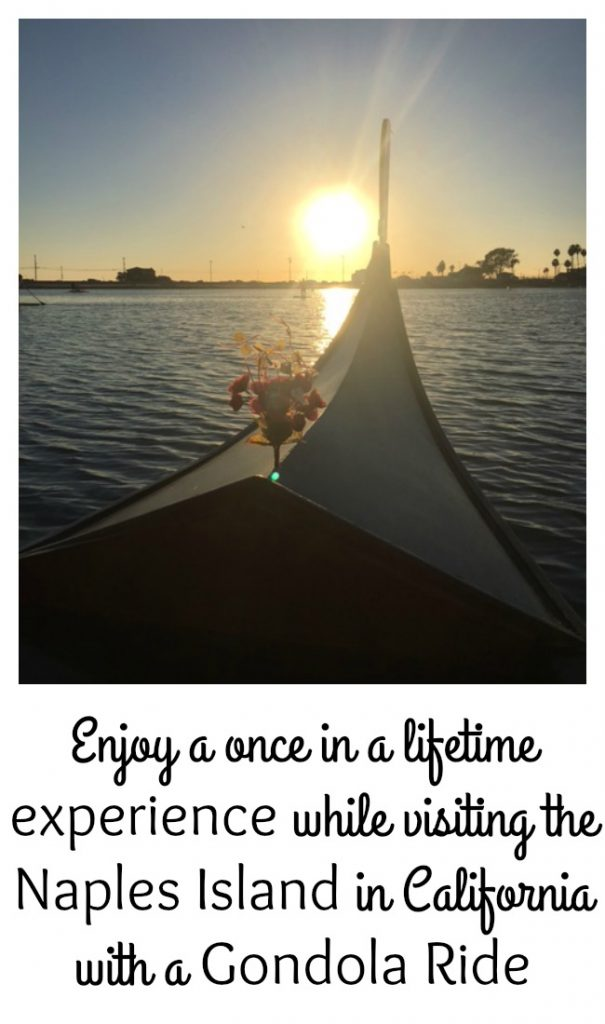 Enjoy a once in a lifetime experience while visiting the Naples Island in California with a Gondola Ride