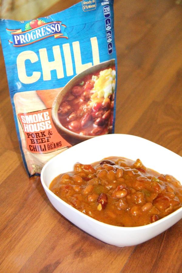 Chili Nachos using Progresso - Progresso chili