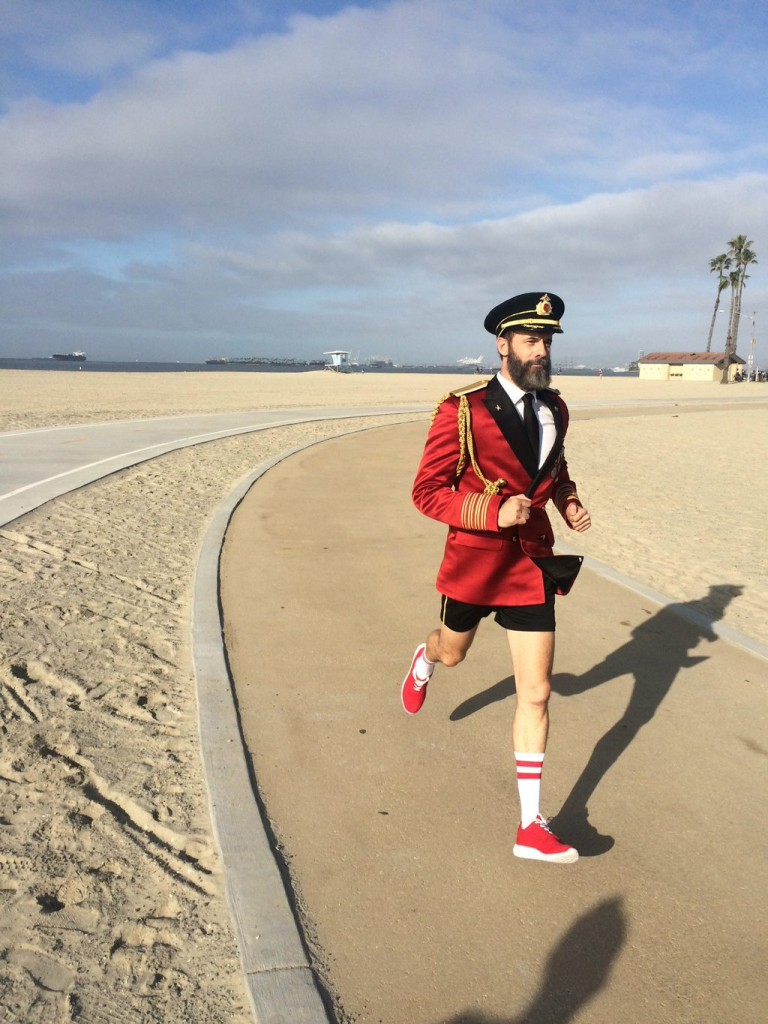 Captain Obvious running