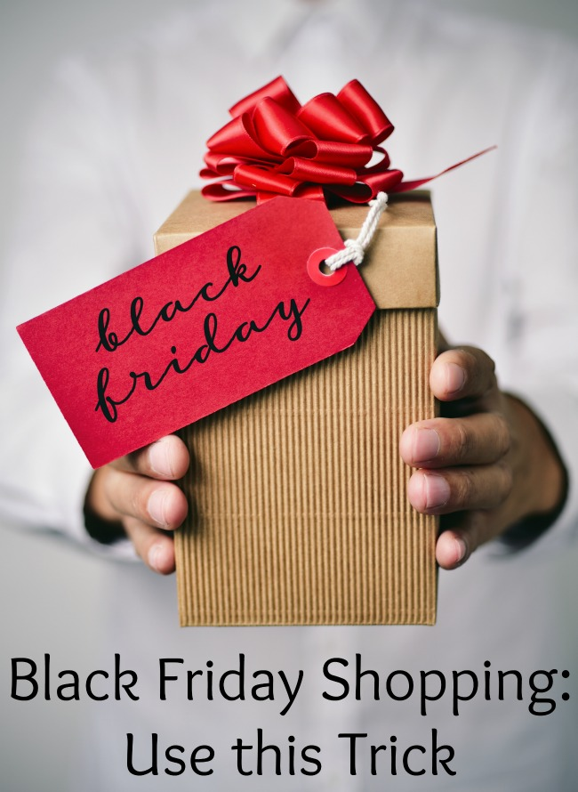 Black Friday Shopping: Use this Trick