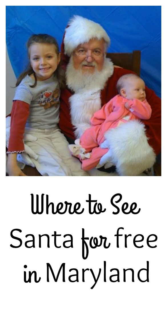 Where to See Santa for free, in Maryland